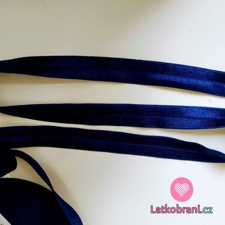 Šikmý proužek / lemovací pruženka královsky modrá 19 mm