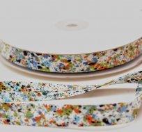 Šikmý proužek / lemovací pruženka barevné kaňky