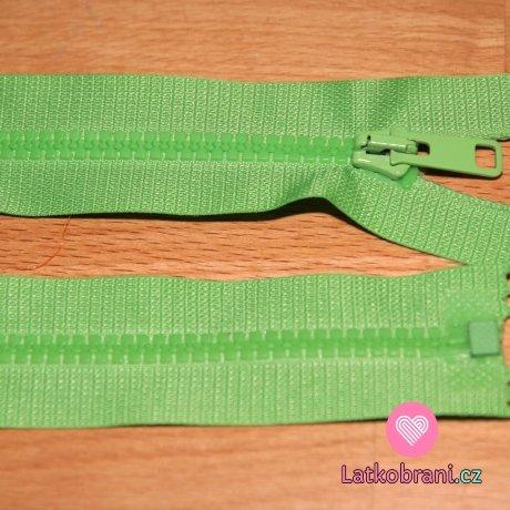 Zip kostěný dělitelný 50cm zelené jablko