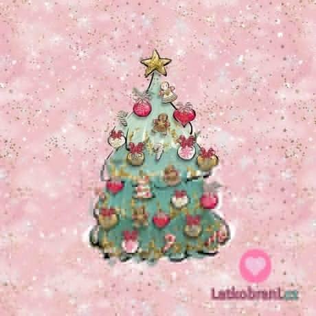 Panel vánoční stromeček růžový