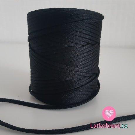 Šňůra oděvní kulatá  PES 4 mm černá