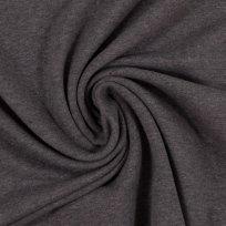 Teplákovina počesaná tmavší šedá melé