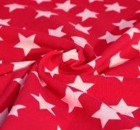 Úplet hvězdy bílé na růžové syté s nádechem do neonové