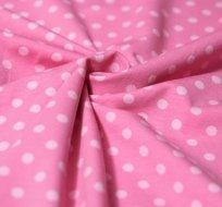 Úplet puntíky světle růžové na dětské růžové 5mm