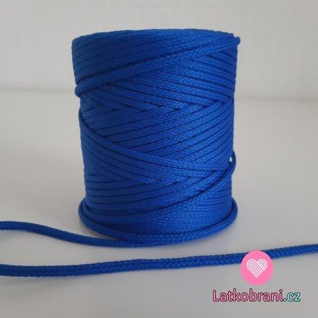 Šňůra oděvní kulatá  PES 4 mm královsky modrá