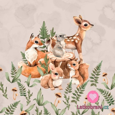 Panel mláďátka z lesa na béžové