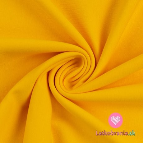 Teplákovina jednobarevná počesaná sytě žlutá