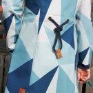 Softshell potisk velké trojúhelníky modré