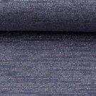 Teplákovina počesaná jeansově modrá s třpytivými nitkami