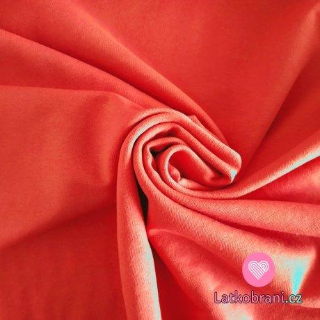 Jednobarevná teplákovina růžová korálová sytá 240 g