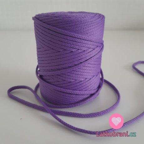 Šňůra oděvní kulatá  PES 4 mm šeříkově fialová