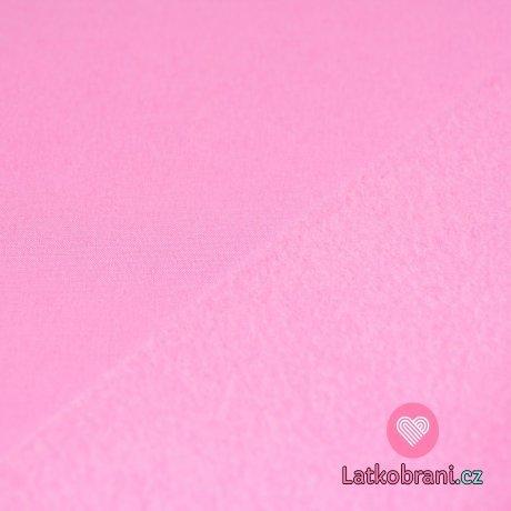 Softshell světle růžový s fleecem