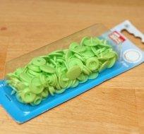 Patentky plastové Color snaps zelené jablko