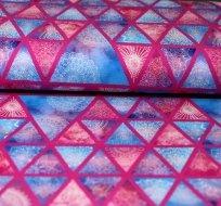 Úplet krajka v trojúhelníčku růžové čáry