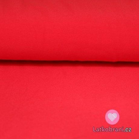 Jednobarevný úplet červený melounový 220g