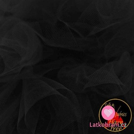 Jemný tyl černý 300 cm