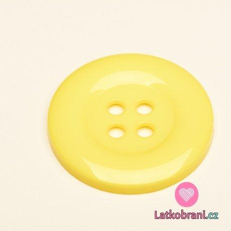 Knoflík mega velký baby žlutý