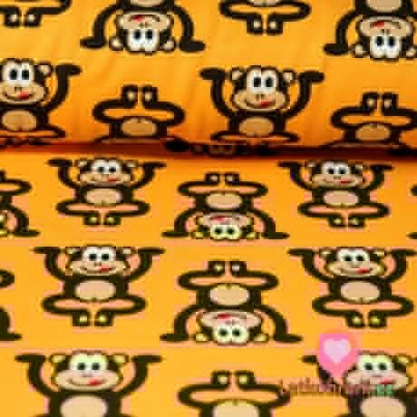Úplet opičky hnědé na hořčicové
