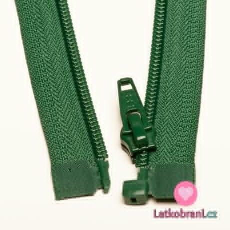 Zip spirálový dělitelný zelený 40cm