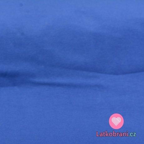 Jednobarevný úplet modrý do královsky modré SLEVA KAZ NA LÁTCE