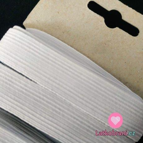 Pruženka prádlová bílá 17,4 mm - karta 5 m