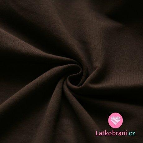 Jednobarevná teplákovina tmavě hnědá 290g