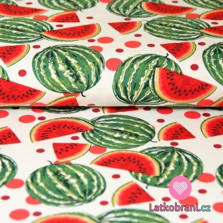 Úplet melouny na bílé
