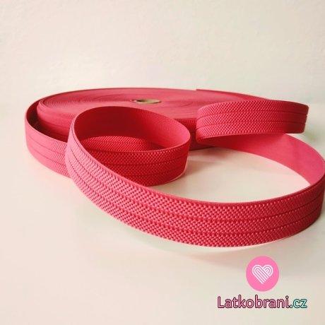 Pruženka barevná malinová světle růžová 25 mm opasková