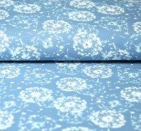 Úplet pampeliškové chmíří na jeansové modré