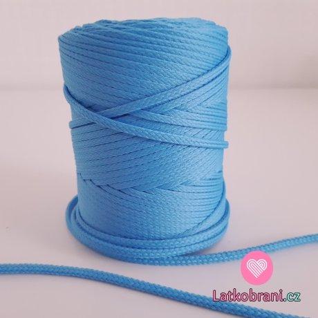 Šňůra oděvní kulatá  PES 4 mm blankytně modrá