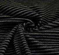 Náplet/úplet proužky tmavě šedé s šedou