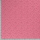 Úplet potisk drobné černé trojúhelníčky na starorůžové