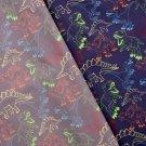 Softshell potisk barevní dinosauři na tmavě modré