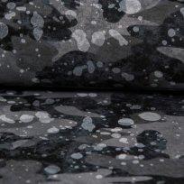 Teplákovina kamufláž  do šedá