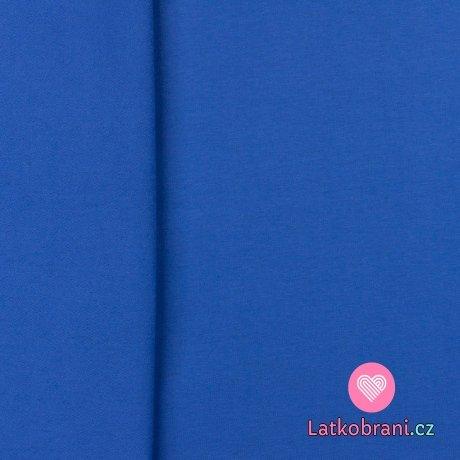 Jednobarevný úplet kobaltově modrý