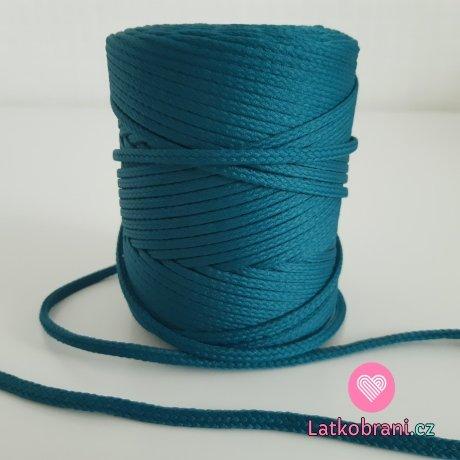 Šňůra oděvní kulatá  PES 4 mm cypřišově zelená