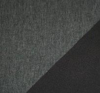 Softshell melé šedá s fleecem z rubu tmavě šedý