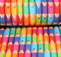 Teplákovina barevné pastelky