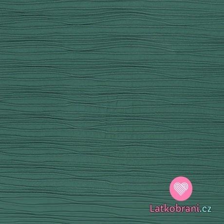 Úplet proužky s plastickým efektem army zelený