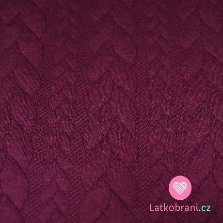 Pletenina copánky fialovo-bordová