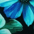 Úplet potisk noční květy na černé