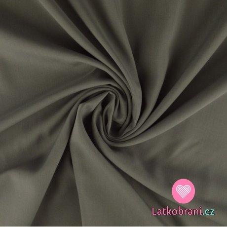 Viskóza jednobarevná stříbrno - šedá