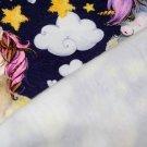 Teplákovina POČESANÁ roztomilý jednorožec s fialkovou hřívou
