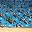 Softshell zebra na tyrkysové