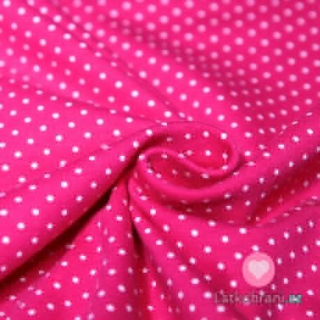 Úplet drobné puntíky na pink růžové 2mm